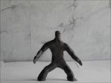 Рождение пластилинового человека (новая версия)
